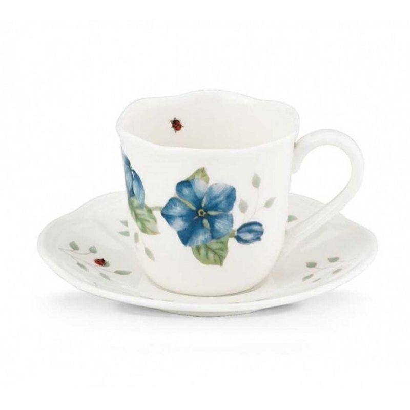 "Чашка для эспрессо с блюдцем Lenox ""Бабочки на лугу"" 120мл"