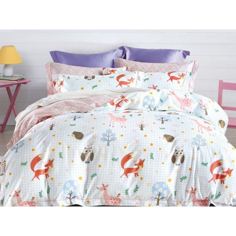 Комплект постельного белья 1,5-спальный, печатный сатин 992-4XS