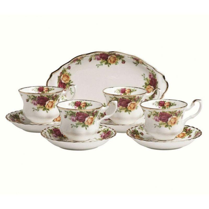 Набор для чай (9 предметов) Розы Старой Англии