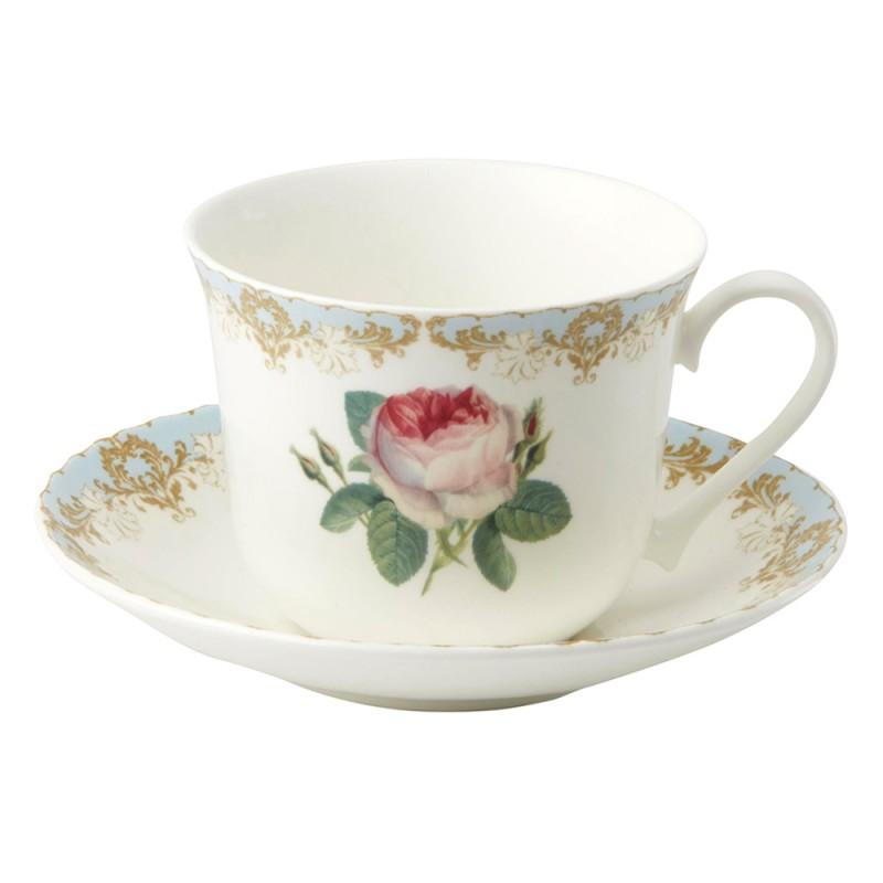 Чайная пара для завтрака Винтажная Роза 500мл