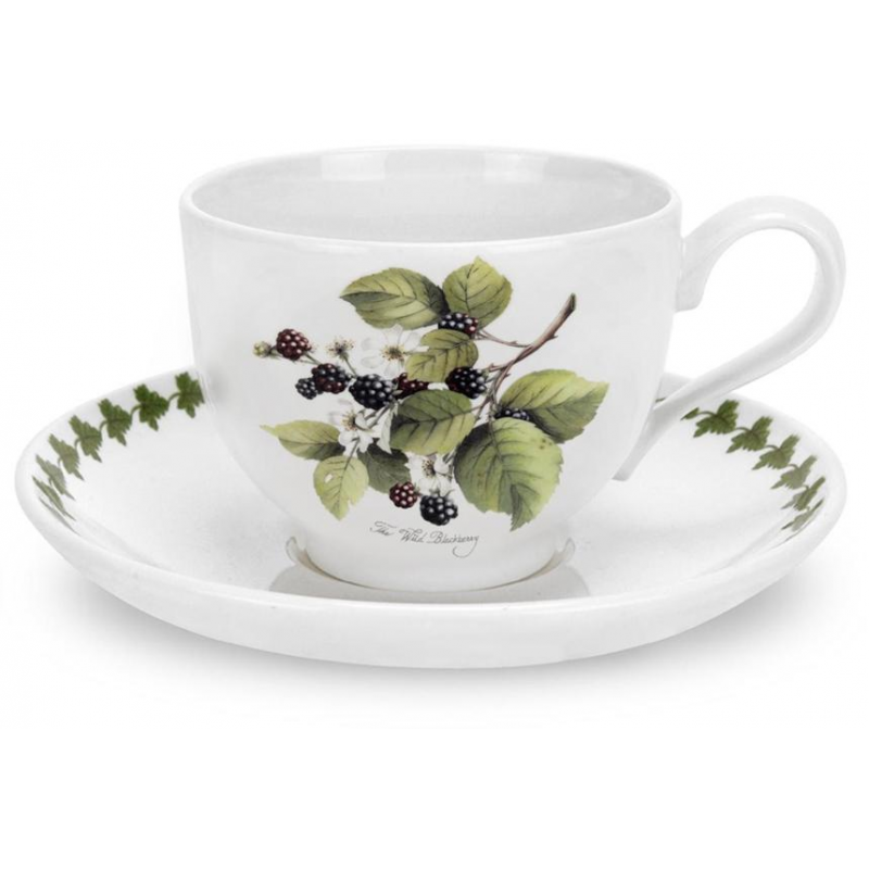 """Чашка чайная с блюдцем 200мл """"Помона"""" """"Ежевика"""""""