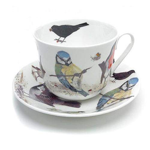 Чайная пара для завтрака Сад птиц 500мл