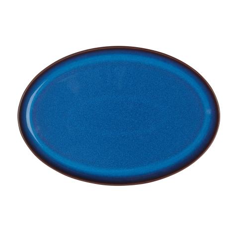 Императорский Синий Поднос овальный 28х18,5 см