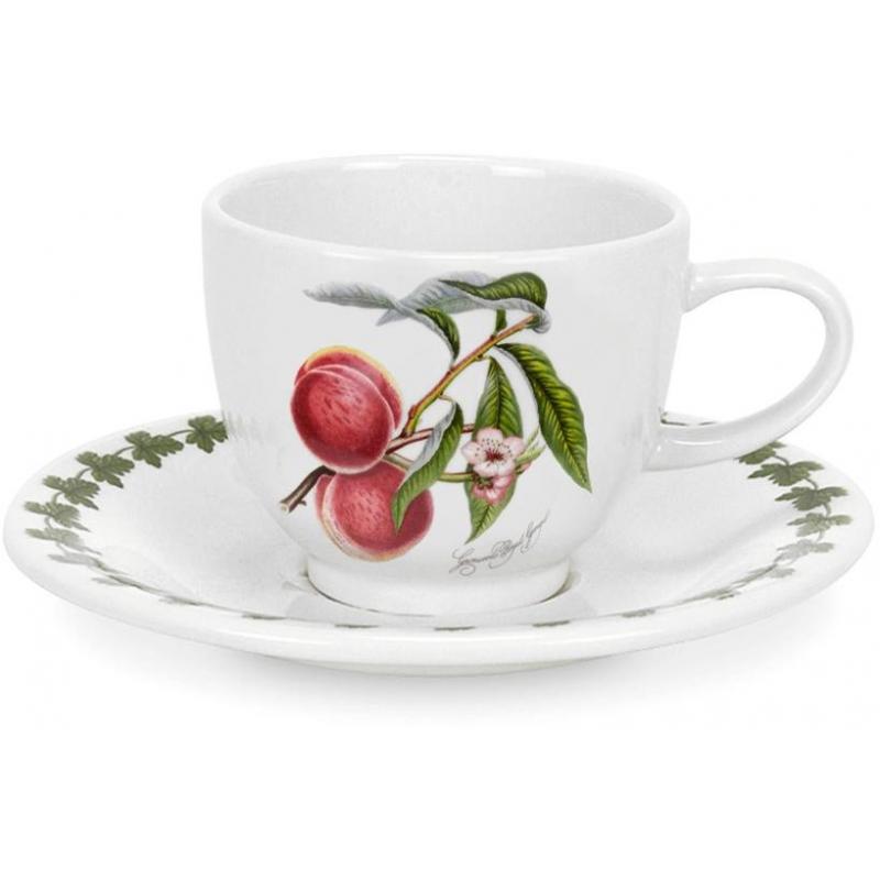 """Чашка для эспрессо с блюдцем 100мл """"Помона"""" """"Персик"""""""
