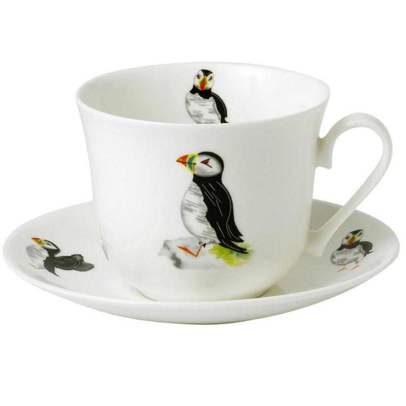 Чайная пара для завтрака Парад птиц 500мл