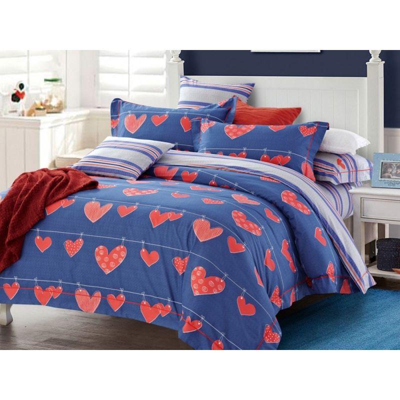 Комплект постельного белья Евро, печатный сатин 937-6