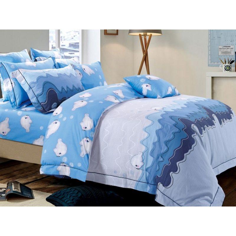 Комплект постельного белья 1,5-спальный, печатный сатин 914-4XS