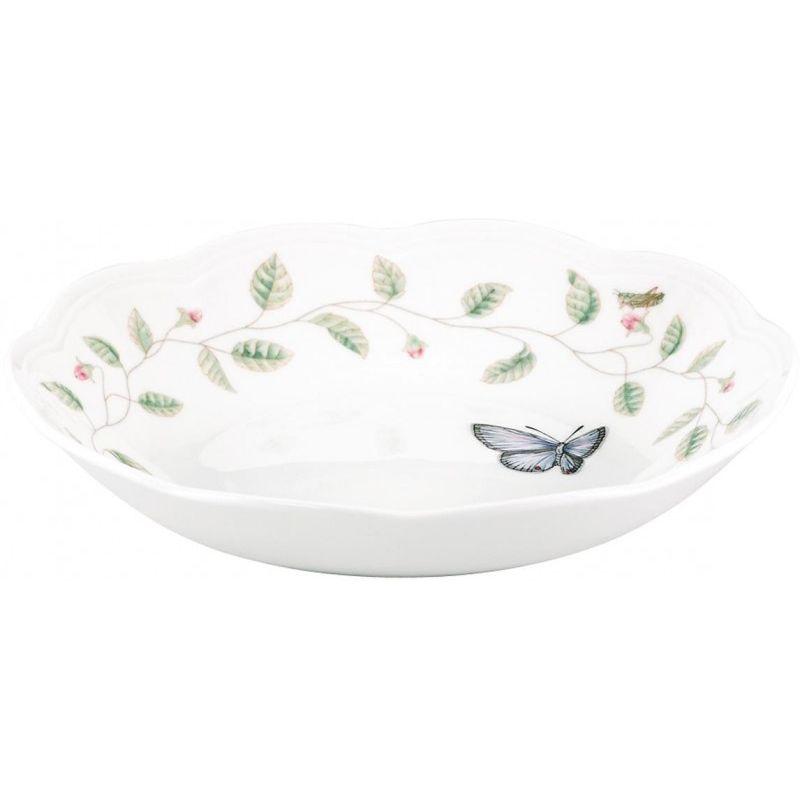 """Тарелка суповая Lenox """"Бабочки на лугу"""" 22,5см"""