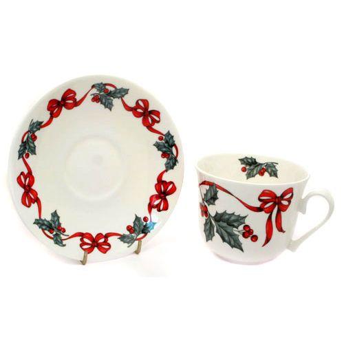 Чайная пара для завтрака Рождественская лента 500мл