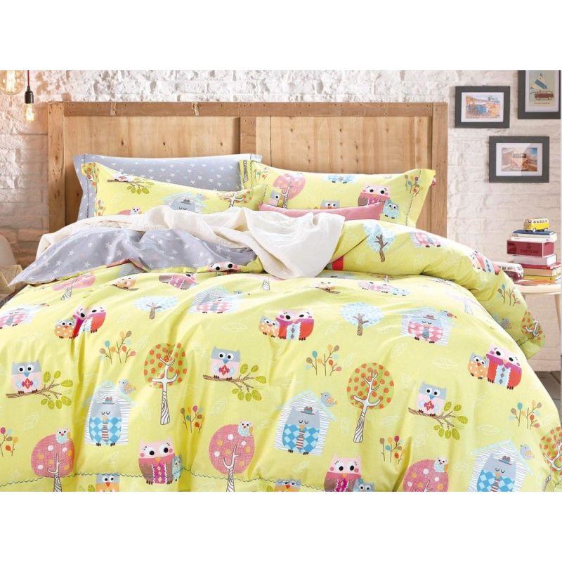 Комплект постельного белья 1,5-спальный, печатный сатин 102-4S