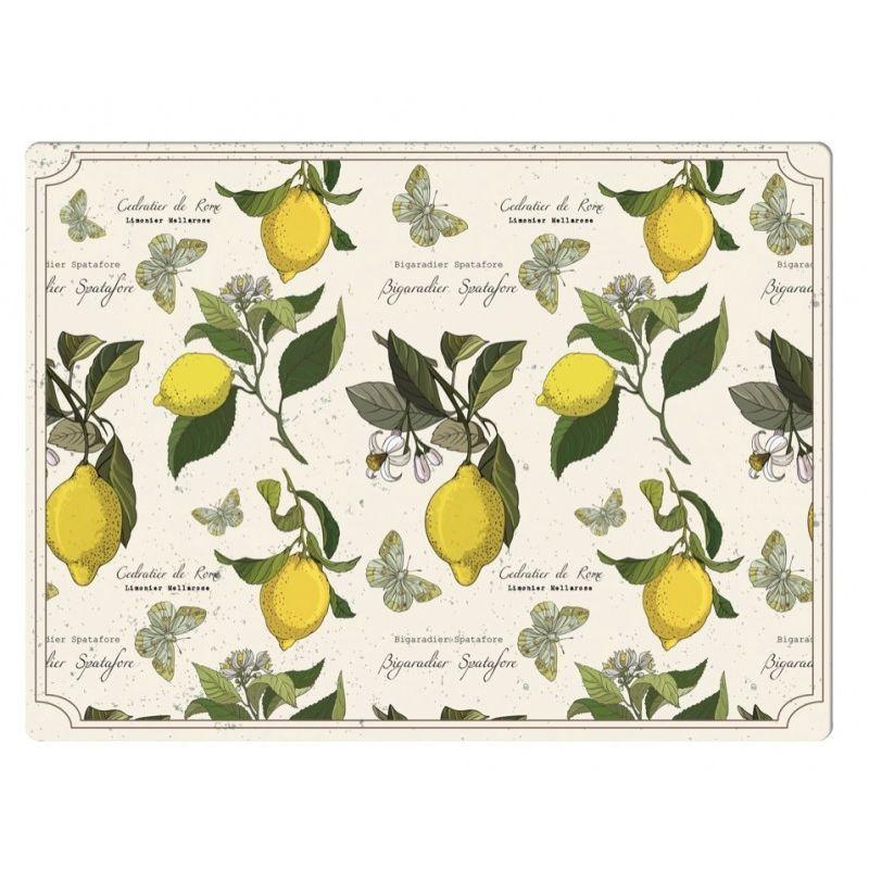 Подставки на пробке Лимонный фестиваль 40х29 см (4шт)
