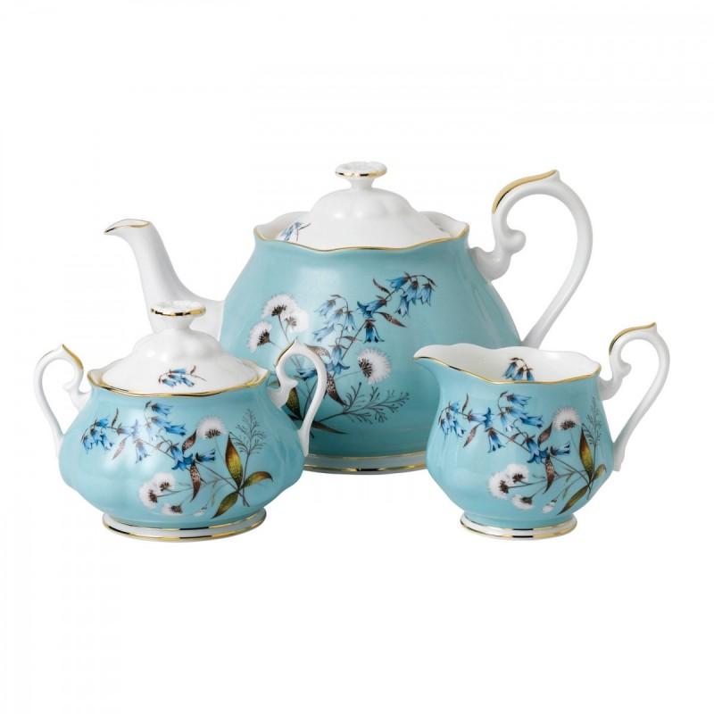 """Набор: чайник, сахарница и сливочник """"Фестиваль"""" 1950 г., Royal Alb"""