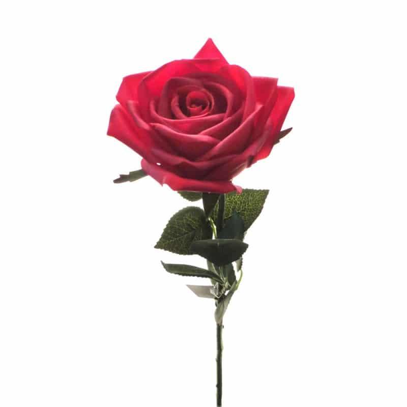 Роза Гран При красная 65 см живое прикосновение