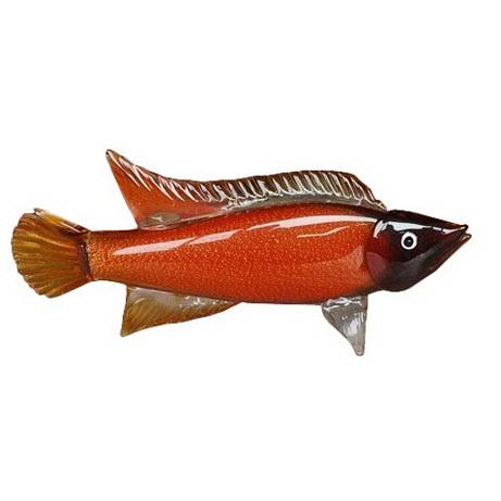 Фигурка Рыба янтарная 49*10,5*23,5 см