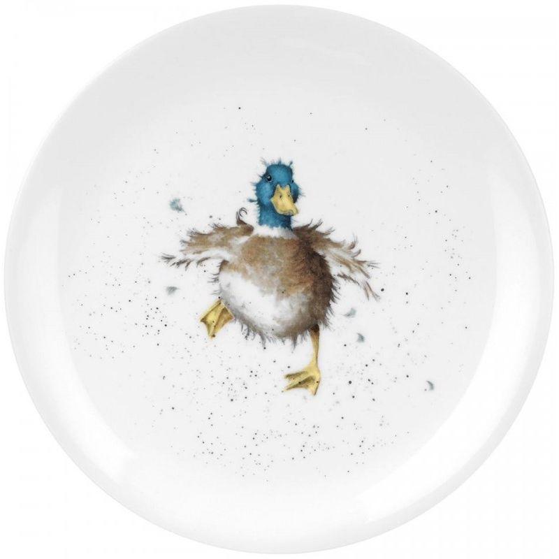 """Тарелка закусочная Royal Worcester """"Забавная фауна.Утёнок"""" 20см"""