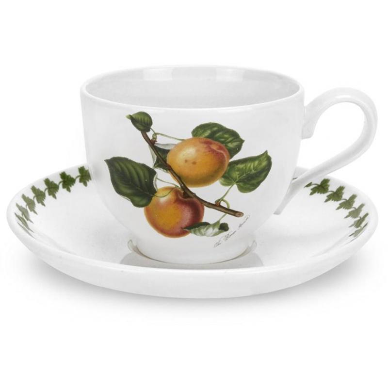 """Чашка чайная с блюдцем 200мл """"Помона"""" """"Абрикос"""""""