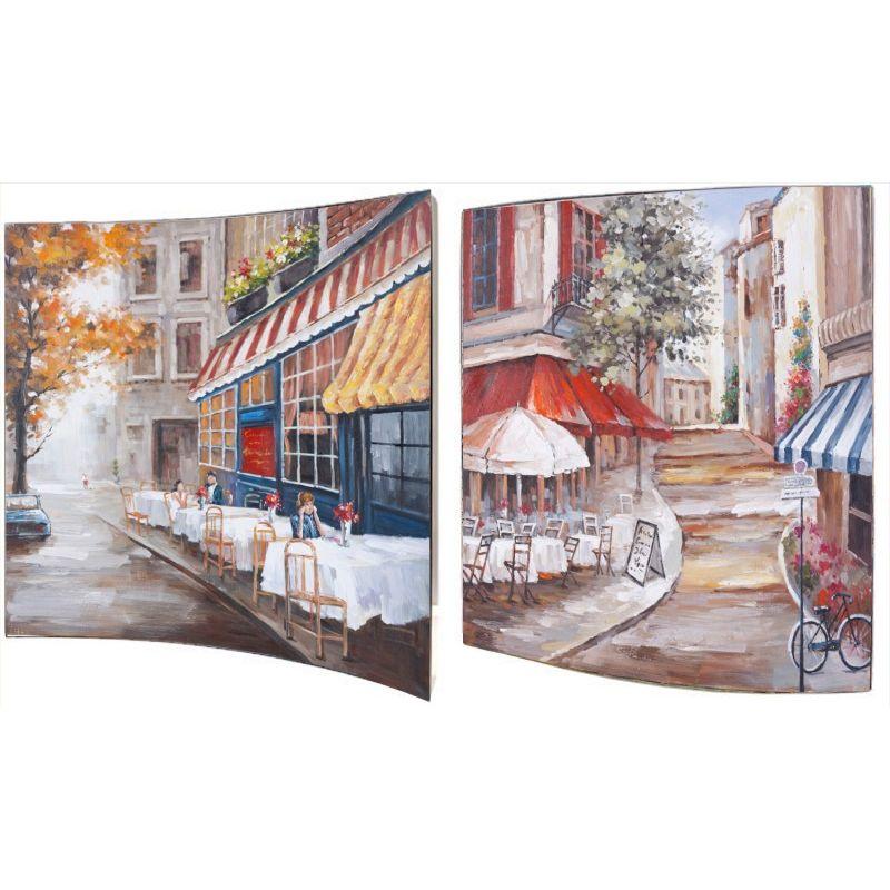 Картина Городское кафе 38x38 см (пара)