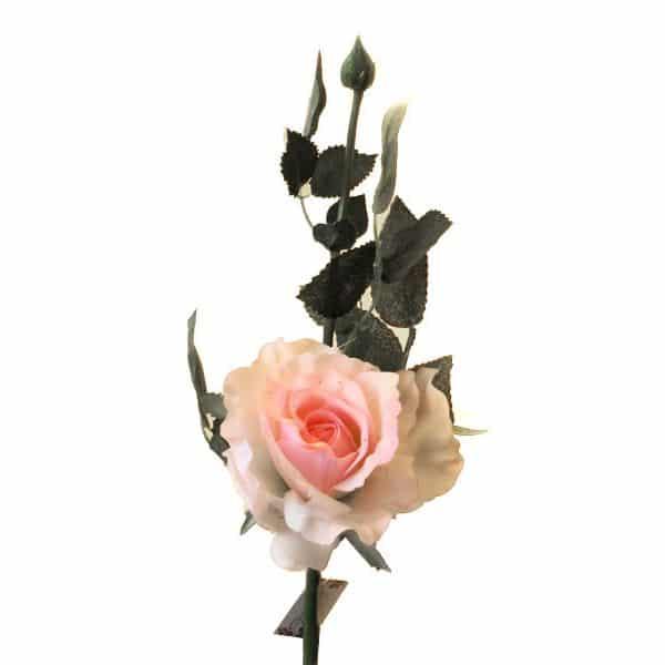 Роза Лимбо с почкой розовая 30 см живое прикосновение