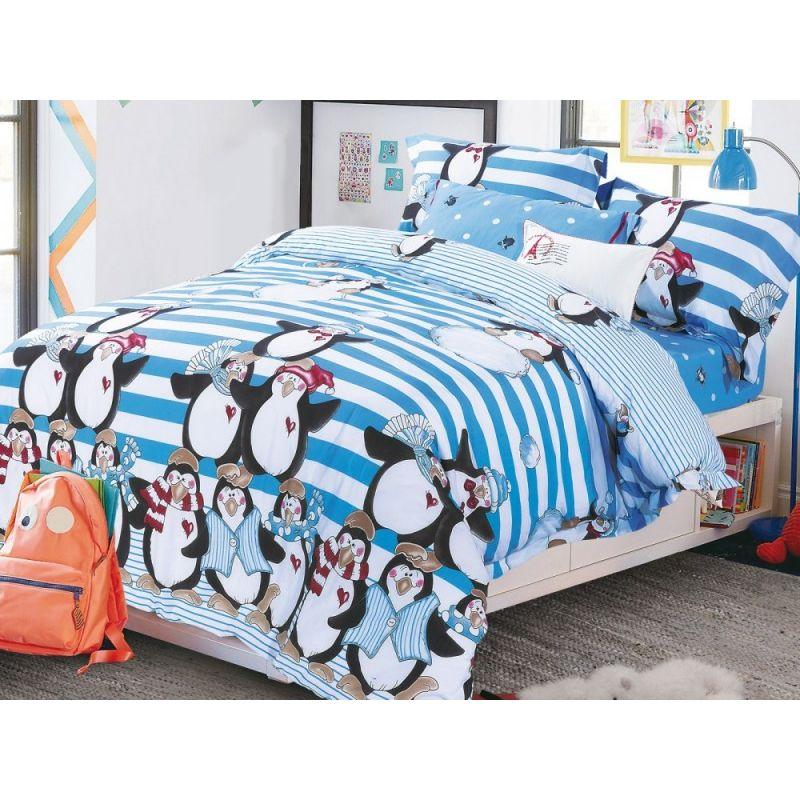 Комплект постельного белья 1,5-спальный, фланель 135-4S