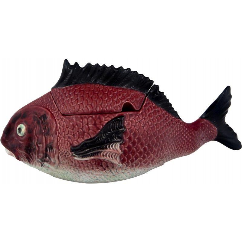 """Блюдо для горячего с крышкой вертикальное Bordallo Pinheiro """"Рыбы"""" 3,3л"""