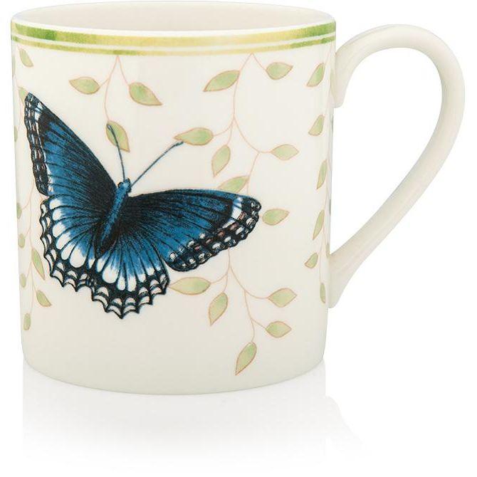 """Кружка Lenox """"Бабочки на лугу.Тёмно-синяя"""" 300мл"""