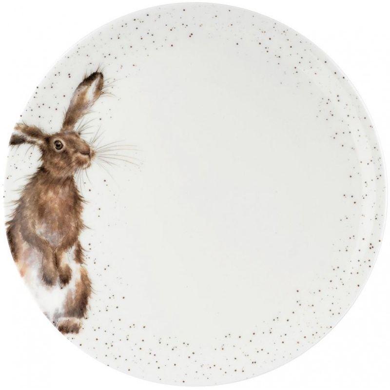 """Тарелка обеденная Royal Worcester """"Забавная фауна.Заяц"""" 27см"""