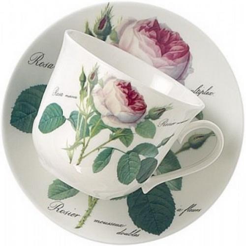Чайная пара для завтрака Роза Редаут 500мл