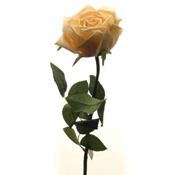 Роза Гран При розовый жемчуг 65 см живое прикосновение