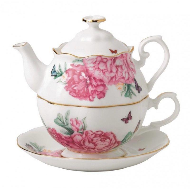 """Набор: Чай для одного (чайник, чашка 0,5 л и блюдце) Miranda Kerr """"Дружба"""""""
