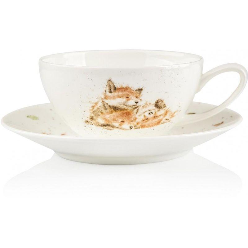 """Чашка для капучино с блюдцем Royal Worcester """"Лисички"""" 300мл"""