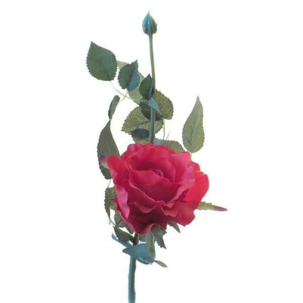 Роза Лимбо с почкой красная 30 см живое прикосновение