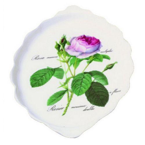 Поднос для сладкого 26*15 см Роза Редаут