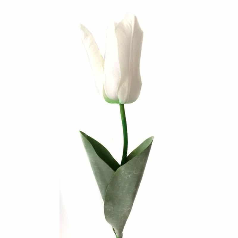 Тюльпан Фаворит белый 58 см живое прикосновение