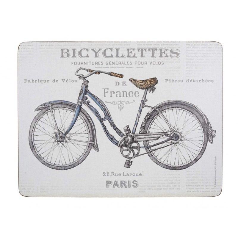 Подставки на пробке большие Велосипед 40*29 см (4 шт)