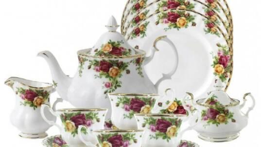 Чайный сервиз Розы Старой Англии 15 предмет, 6 персон