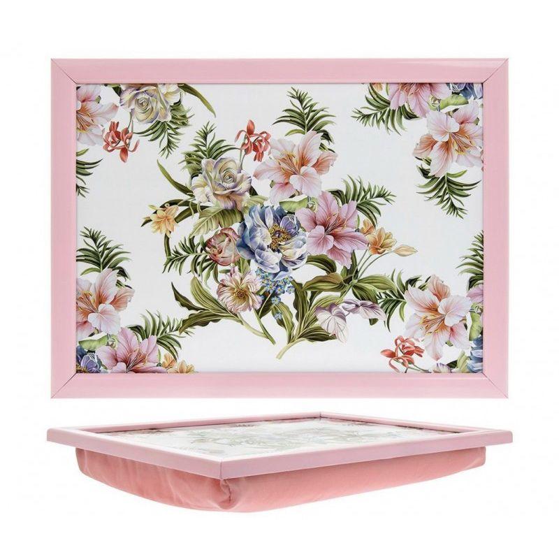 Поднос с подушкой Розовая лилия 44*34 см