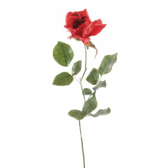 Роза Алиса с почкой красная 70 см