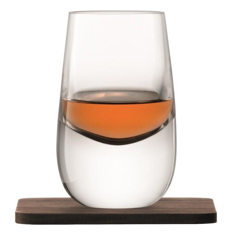 LSA Набор из 2 шотов на подставках whisky 80 мл