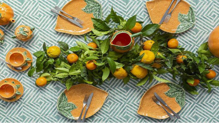 Посуда серии Апельсин от Bordallo Pinheiro можно заказать в интернет-магазине GLAVFISH
