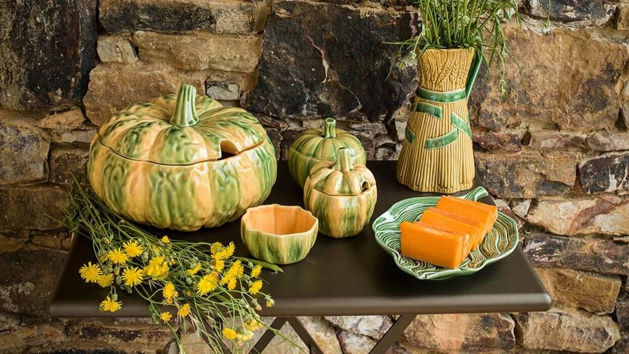Посуда серии Тыква от Bordallo Pinheiro можно заказать в интернет-магазине GLAVFISH