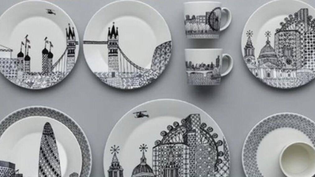 Лондон посуда Royal Doulton